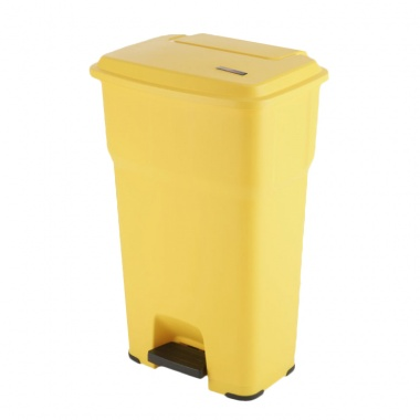 Kosz Hera z pedałem 85l żółty