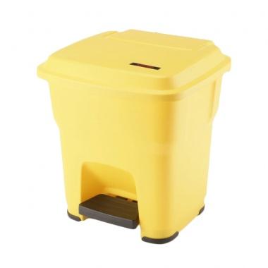 Kosz Hera z pedałem 35l żółty
